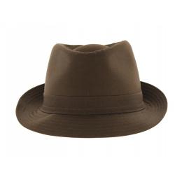 Brown Trilby Cotton Hat