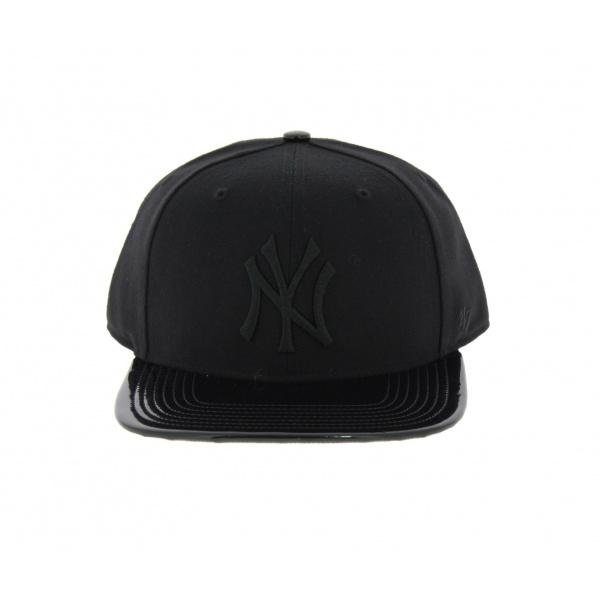 Casquette NY noire simili cuir - 47 Brand