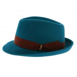 Chapeau melon Borsalino - Bleu canard