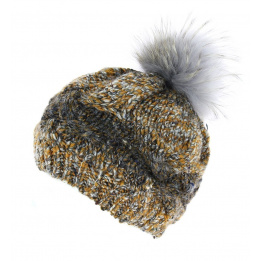 Bonnet pompon - Caramello