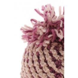 Bonnet tricot Maissa - Bois de rose