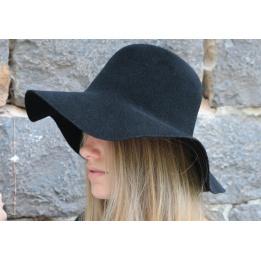 Capeline Garbo Feutre Laine Noir - No Hats