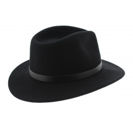 Chapeau Fedora Messer Feutre Laine Noir - Brixton