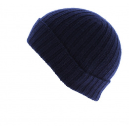 Bonnet cachemire marine Francais - TRACLET
