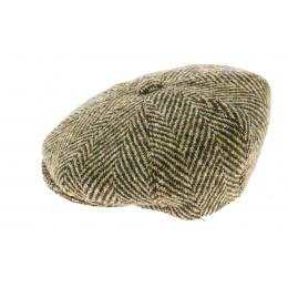 Casquette irlandaise Vert / Beige - Fléchet