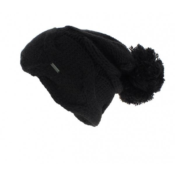 Bonnet Pompom noir - Wegener