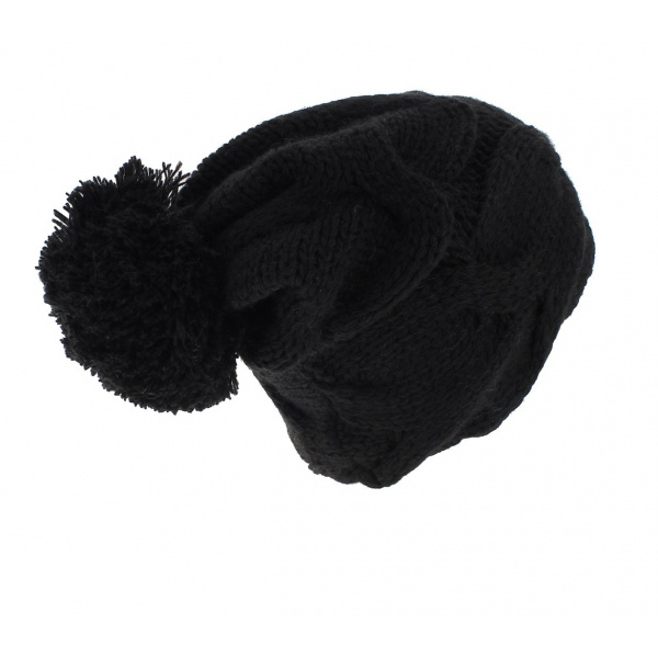 Bonnet Pompon noir - Wegener