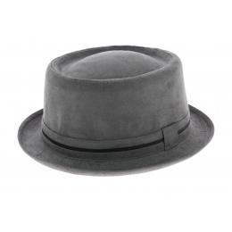 Grey Porkpie Hat - Aussie Apparel