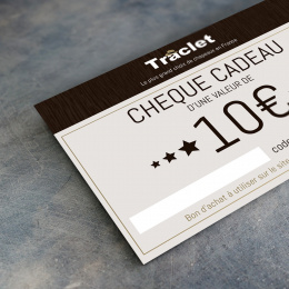 Traclet 10€ gift voucher
