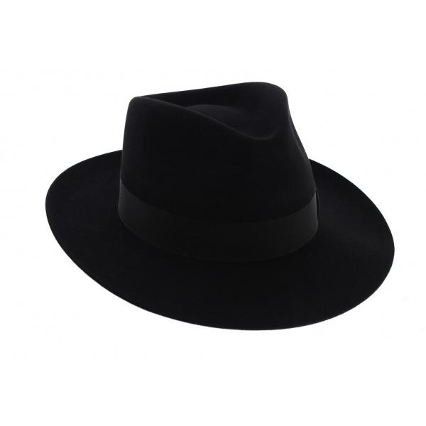 Chapeau Fédora Feutre poil de lapin Marron - Traclet