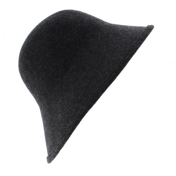 Chapeau Cloche Multi-Formes Feutre laine Anthracite - Scala