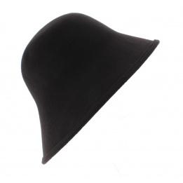 Chapeau Cloche Multi-Formes Feutre laine Marron - Scala