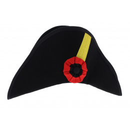 Bicorne 1st Empire black wool felt - Traclet