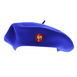 Béret officiel XV de France Bleu-Roi Coq brodé - Héritage par Laulhère