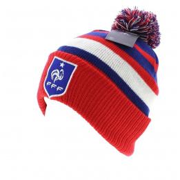 Bonnet officiel de la FFF pompon & Rayures Tricolores