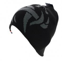 Bonnet court officiel de la FFF noir et gris acrylique
