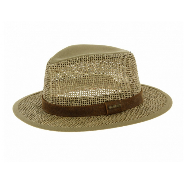 dc76690b2be Chapeau traveller Medfield Seagrass - Stetson - Chapeau Traclet