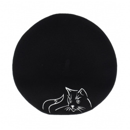 Béret broderie - Chat