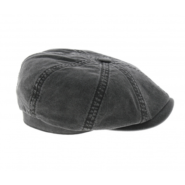 hatteras organic cotton black Stetson