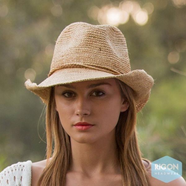 Chapeau de Cowboy Marjo Paille Raffia - Rigon Headwear
