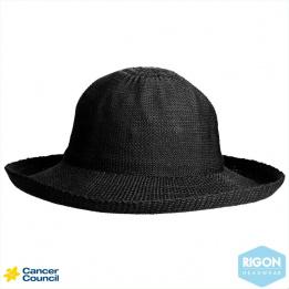 Breton hat Black Polyester