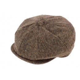Casquette Irlandaise Laine Vierge Marron Chiné - Hanna Hats