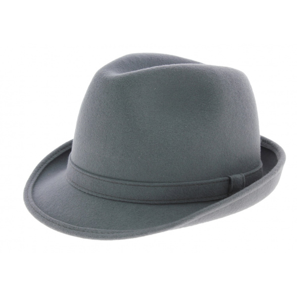 Loden trilby hat - grey