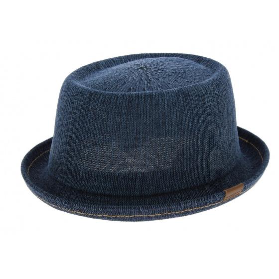 Chapeau PorkPie Denim Mowbray Bleu-Jean - kangol