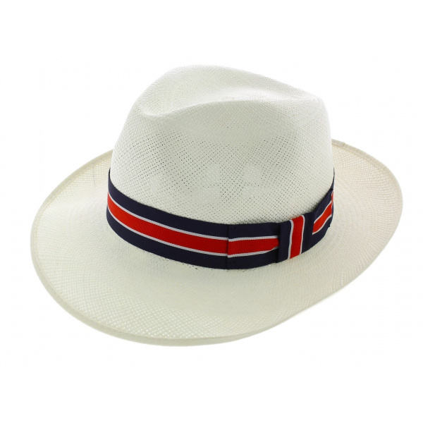 Chapeau Fédora Regimental Panama Naturel - Christy