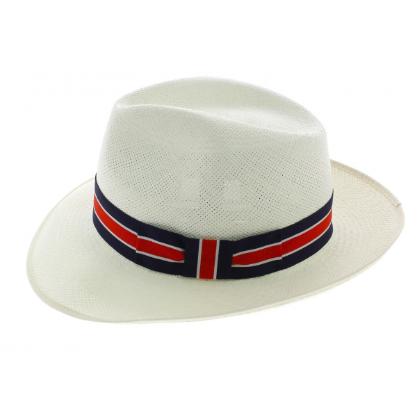 Chapeau Fédora Regimental Panama Naturel - Christy