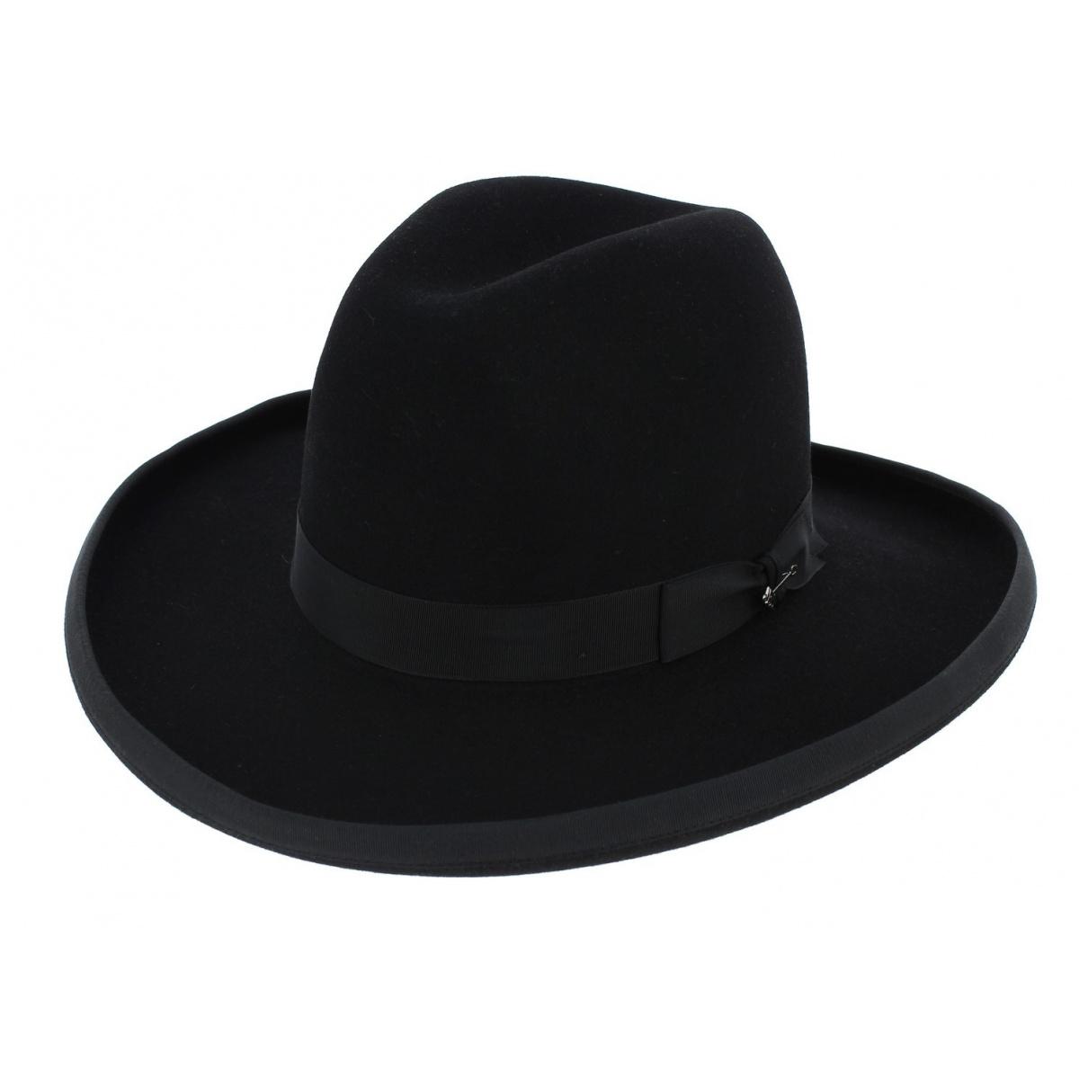 Sheridan Hat Black Bison Felt Stetson