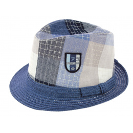Children's Trilby Royal Kid Hat Straw Blue Paper - Traclet