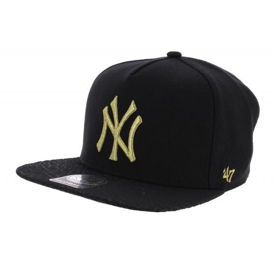 Snapback Visière Plate Craquelée NY Yankees - 47 Brand