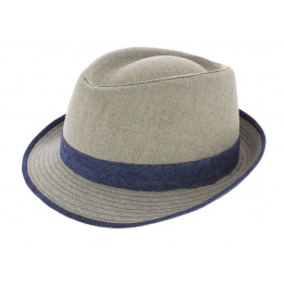 Chapeau Trilby Tropea Lin Beige - Traclet