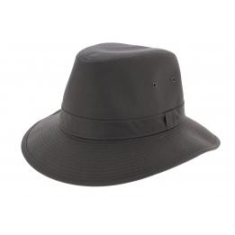 Chapeau Traveller Cortez Coton Huilé Marron - Crambes