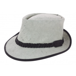 Chapeau Trilby Fitzroy Cuir Gris - Traclet