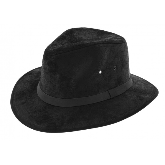 Traveller Hat Flinder Leather Black - Traclet