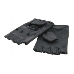 Mitaine cuir noir