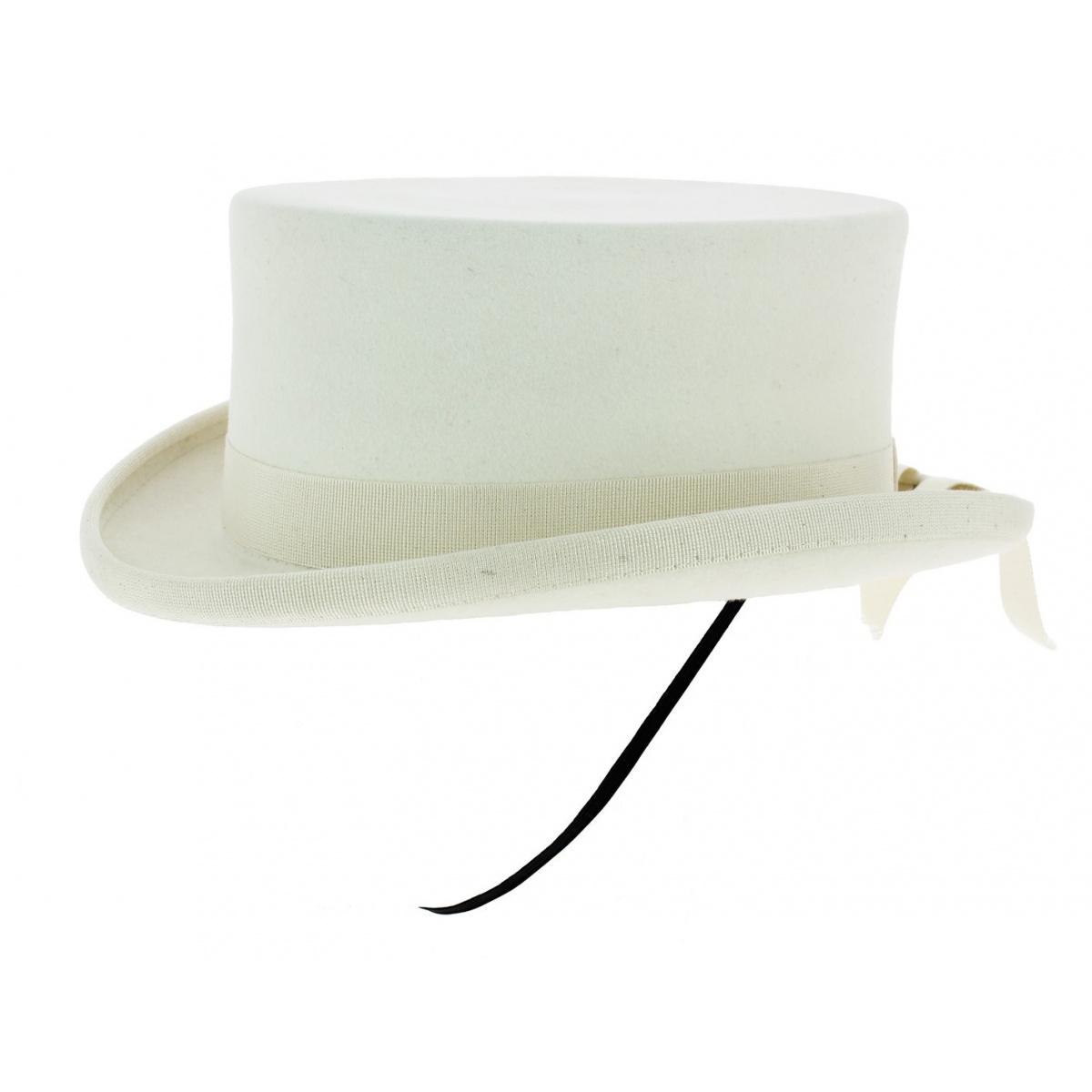 Chapeau Amazone Feutre Poil Blanc Guerra 1855