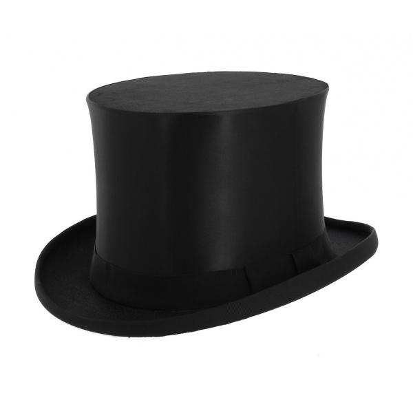 3254fab9a060 Chapeau Claque 15 cm Guerre 1855 -Traclet- Noir