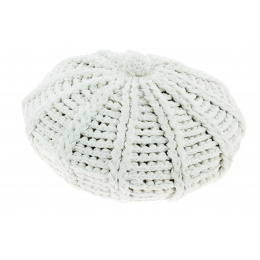 Columbus Adjustable White Cotton Child Beret - Traclet