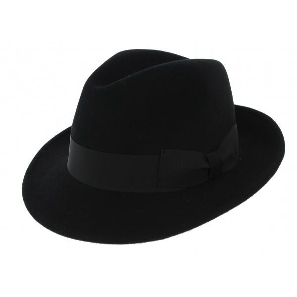 eba1494fb Chapeau Trilby Costello Feutre Laine Noir - Traclet