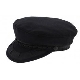 Black Wool & Nylon Navy Cap - Aegean