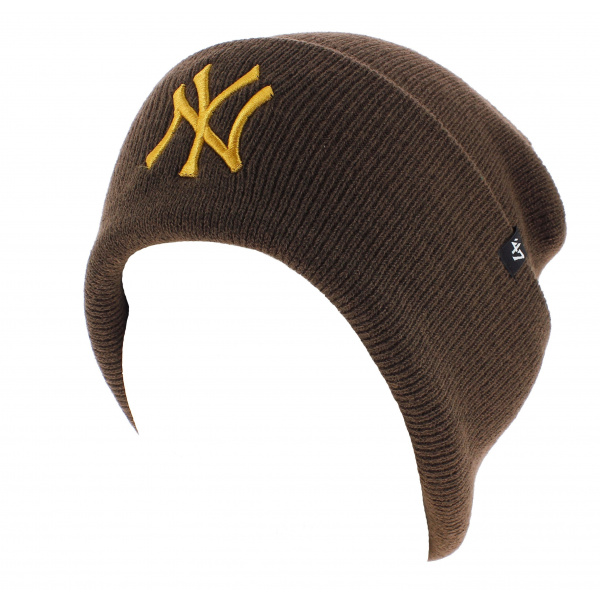 Bonnet Marron NY Yankees Acrylique - 47 Brand