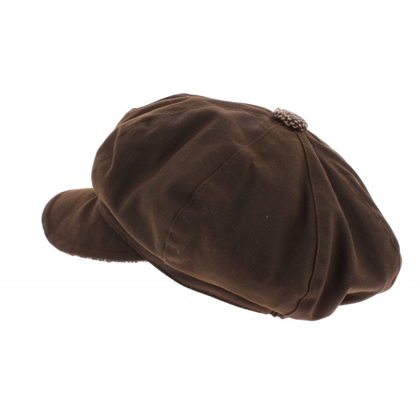 Ellie Ellie Cotton Oiled & Wool Gavroche Cap - Olney