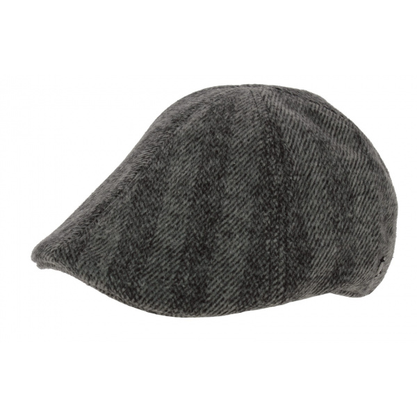 Mitchell Duck Beak Cap Grey Wool - Barts