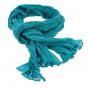 Cheche - Torsade bleu-turquoise