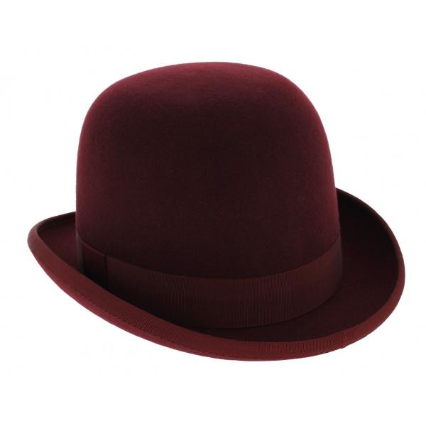 Chapeau melon  Papa Wenba bordeaux