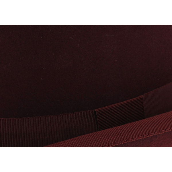 Bowler Hat Burgundy Wool felt