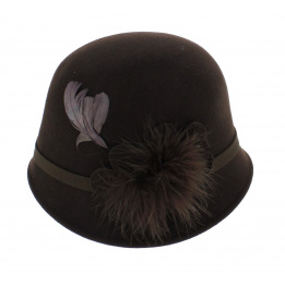 hat cloche brown 30s